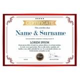 impressão certificado inmetro