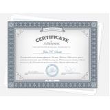 gráfica para impressão de certificados Freguesia do Ó
