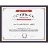 impressão de certificado para cursinho Cidade Tiradentes
