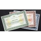 impressão de certificados gráfica Cajamar
