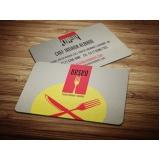 quanto custa cartão de visita para restaurante Pedreira